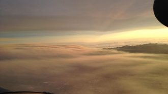 Picture taken Tuesday morning of North County from California Highway Patrol plane.