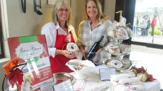 Janell Dusi (right) of J. Dusi Vineyards and her cousin chocolatier Gina Marie