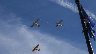 Flyover by Estrella Warbirds in Atascadero. Photo by Rick Evans.