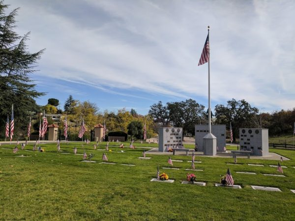 Flags at the Paso Robles District Cemetery. Photo by DuPree Dial.