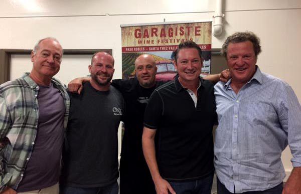 """Illegal Blends! Garagiste Winemakers Break Old World Wine Rules."" (l-r) Doug Minnick, Jeffrey Streakas, Steve Lemley, Erick Allen & moderator Stu McLennan."
