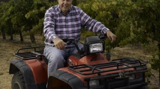 Jerry Johr at Snowden Vineyard on his ATV.