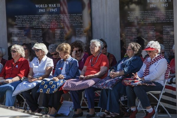 24 quilts were given out during the Quilts of Valor presentation in Atascadero. Photo by Rick Evans.