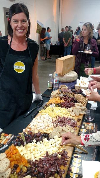 An ample cheese and charcuterie spread provided by Vivant Fine Cheese.