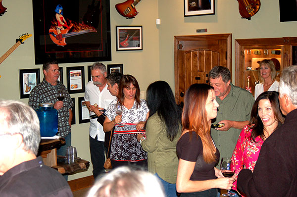Guests at the Grand Opening of the Gary Kramer Guitar Cellars.