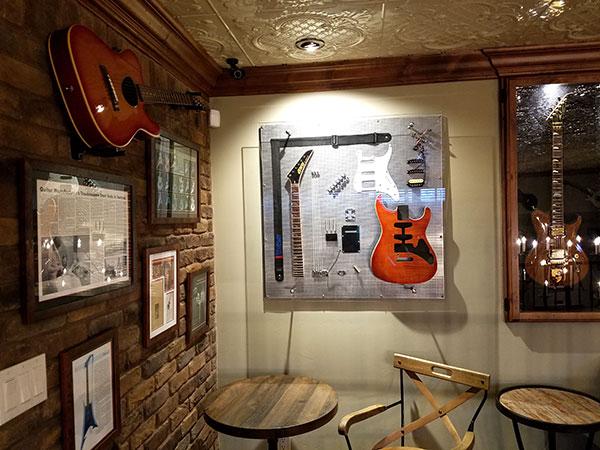 A disassembled Kramer guitar.