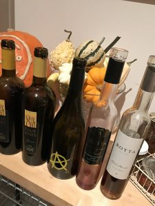Lineup of wines - Rotta, Cypher and Four Vines