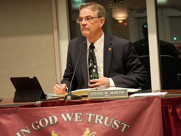 Mayor Steve Martin.