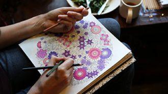 Adult coloring (photo courtesy Washington Post).