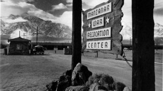 The internment camp for Japanese Americans at Manzanar, Calif.