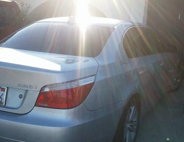 The car that was reported stolen. Image courtesy Jose Diego Contreras.