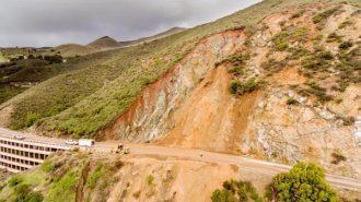 Highway 41 landslide