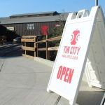Cider tasting at Tin City