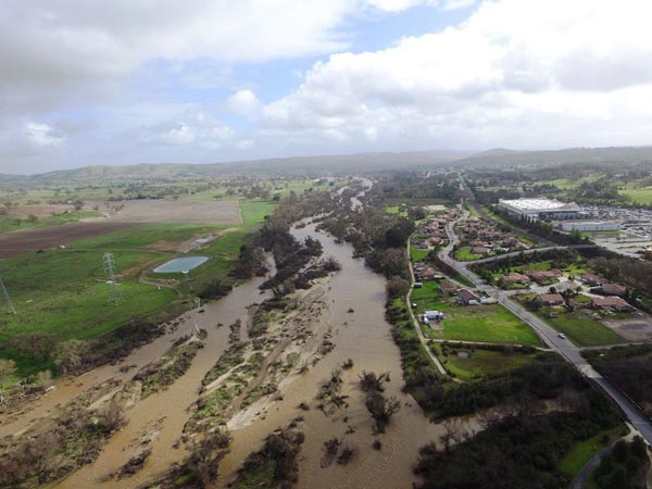 aerial photo of salinas river paso robles
