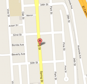 Google map of 3100 Spring St,