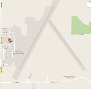 Google Map of Paso Robles Airport.