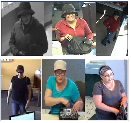 Photos of the suspected bank robber