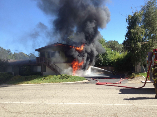 fire near vine street