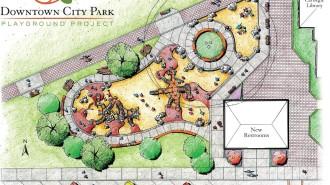 Downtown City Park Playground