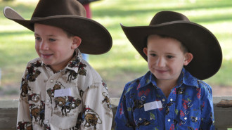 Little Cowboy and Little Cowgirl contest, Pioneer Day, Paso Robles