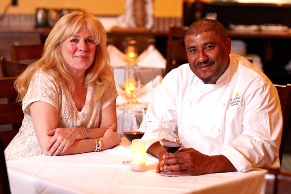 Il Cortile Chef Santos MacDonal, right, with his wife and co-owner Carole MacDonal.
