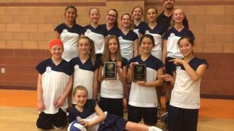 Saint Rose Catholic School Girls Volleyball team