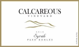 2010 Calcareous Vineyard Syrah