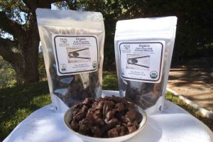 Manzanita Manor Orchards, dark chocolate walnuts, free trade, organic