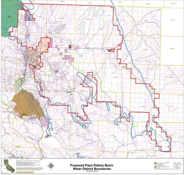 water basin groups reveal proposed district map paso robles