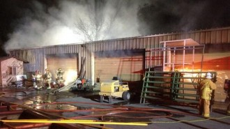 Fire at Fairgrounds