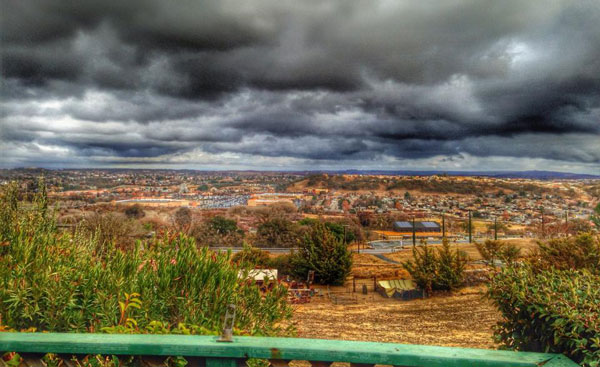 The stormy skies over north county on Sunday afternoon. Photo by Trisha Butcher.