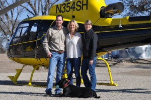 Scott and Shera Sinton are pictured with Ali Dusi (right) outside the J. Dusi Vineyards tasting room prior to leaving for a Paso Air Tour of local wineries. Photos by Meagan Friberg.