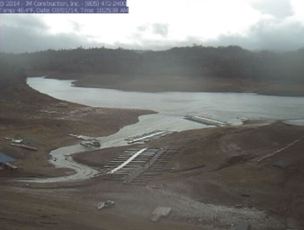 Lake Nacimiento level
