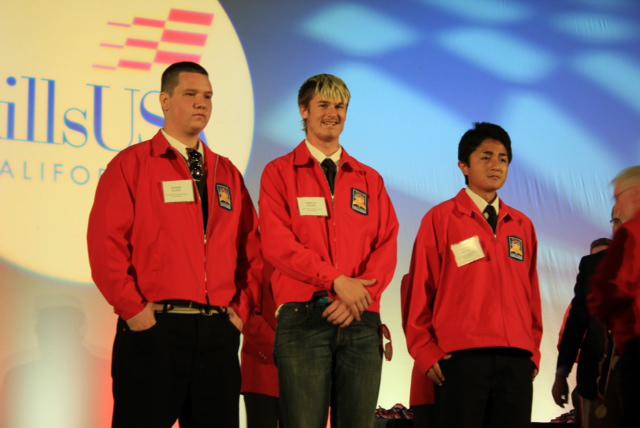Plumbing entries, from left ,Austin Lloyd, Tristan Balson, Takeru Konno.
