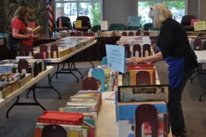 A photo from last year's book sale.