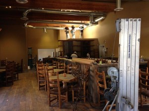 The inside of the restaurant is currently being remodeled.