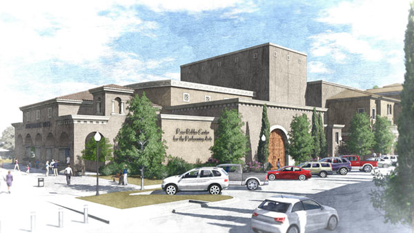 Artists rendering of the planned Paso Robles performing arts center.