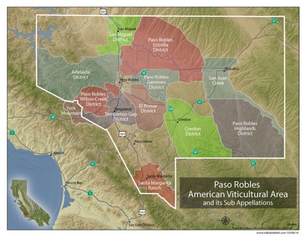 New Paso Robles AVAs