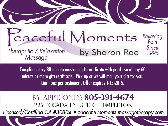 Peaceful Moments Massage page
