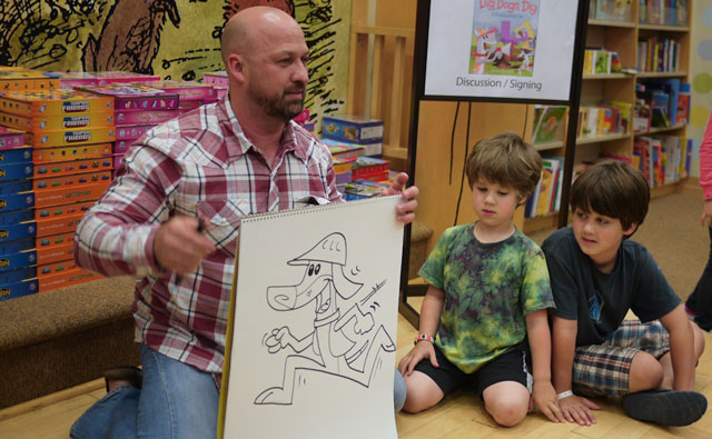 Author and illustrator James Horvath will entertain children as a special guest during Take Your Child to the Library Day at the Paso Robles Library on Monday, Feb. 9.  Horvath will read his books and teach the children how to draw his characters during a special story time at 10:30 and 11:30 a.m. in the Library Conference Room.  A full day of activities is planned at the Library from 10 a.m. to 8 p.m. for this nation-wide celebration which encourages parents and caregivers to bring children to the library on a regular basis.