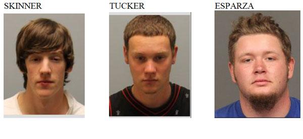 Skinner, Tucker, Esparza arrested