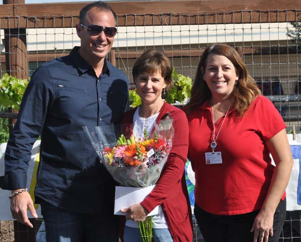Agriculture Day, Judy Honerkamp, Principal Karen Grandoli, Superintendent Chris Williams, Meagan Friberg
