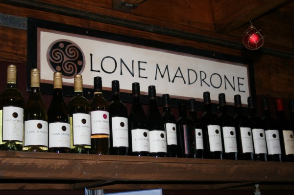 Lone Madrone Wine.