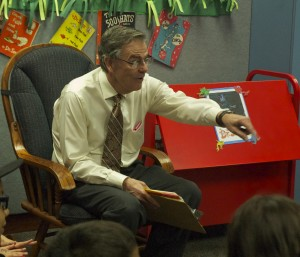 Mayor Martin read to a packed house of children and adults on Monday