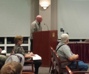 Taxi driver Douglas Shelby spoke out against Uber at Tuesday's meeting.