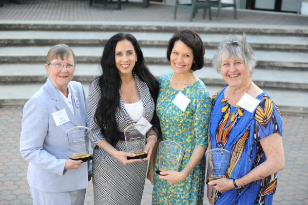 "The four recipients of the 2015 Women of Distinction awards, left to right: Elizabeth ""Biz"" Steinberg, Lisa Ray, Jill Bolster-White and Grenda Ernst. The women were recognized on Thursday, March 19, during a ceremony at Cuesta College."