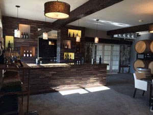 The interior of the tasting room.