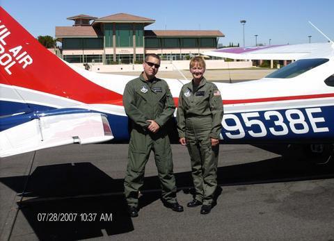 Aircrew on training mission. Courtesy photo.