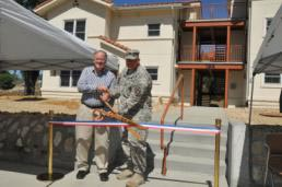 Pictured are Fort Hunter Liggett Commander Lt. Col. Michael B. Bailey and Congressman Sam Farr conducting the ribbon cutting ceremony.