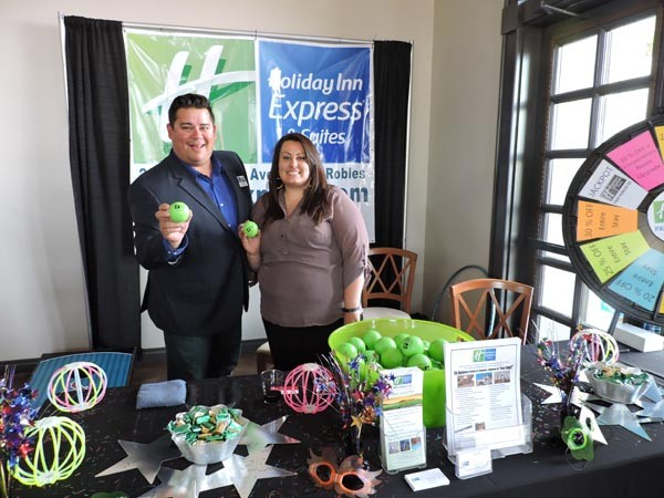 John Arnold and Amber Hamilton of Paso Robles Holiday Inn Express.